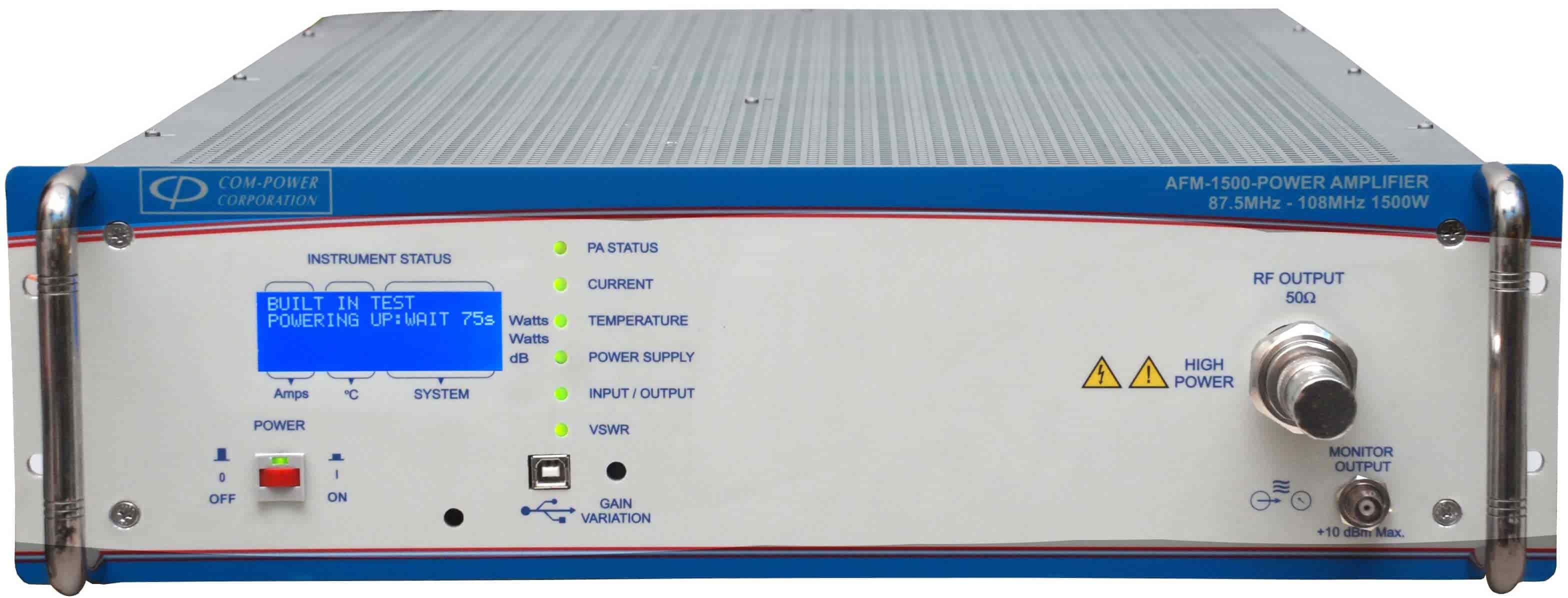 Power Amplifier For Fm Transmitters 1500 W 5 Watt A Part Of Com Powers Series Rf Amplifiers