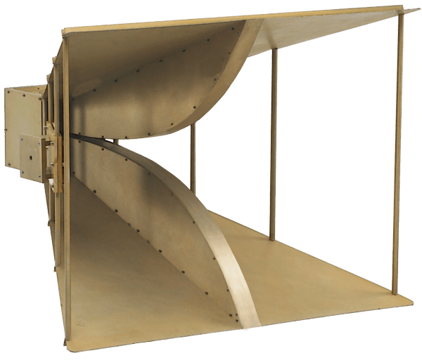 double ridge broadband horn antenna