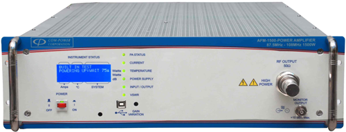 Power Amplifiers for FM transmitters: 1500 W, 2000 W, 3000 W, etc