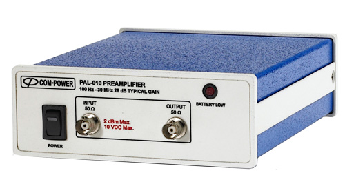 Audio and Low Frequencies Preamplifier